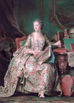 루이15세의 정부인 퐁파두르 부인은 분송핵 옷을 즐겨입었다. 당시 유럽 유행의 중심인 파리에서, 가장